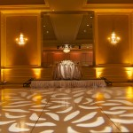 Hilton Lake Las Vegas Wedding - Gobo Pattern Wash & Wedding Uplighting, Uplights