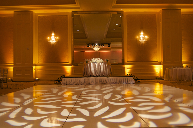 ... Hilton Lake Las Vegas Wedding - Gobo Pattern Wash u0026 Wedding Uplighting Uplights : amber lighting wedding - www.canuckmediamonitor.org