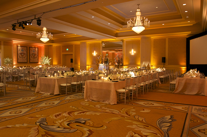Hilton Lake Las Vegas Wedding - Gobo Pattern Wash u0026 Wedding Uplighting Uplights Centerpiece : amber lighting wedding - www.canuckmediamonitor.org