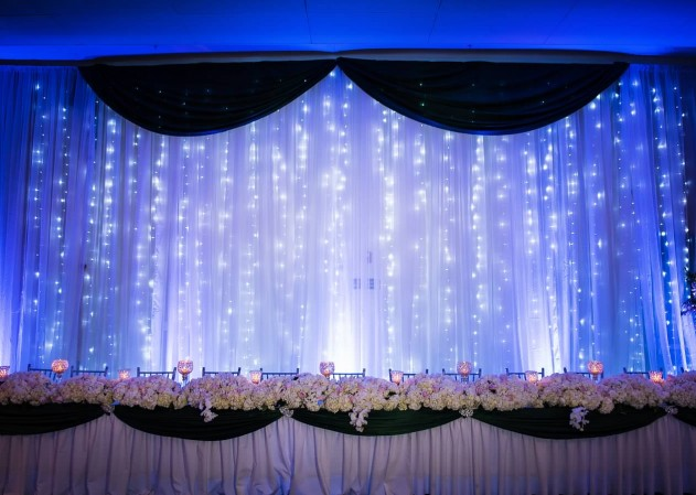 Crystal Rose Center Wedding - Lighting & Draping by Bliss Entertainment Event Group