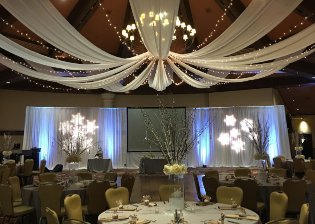 JW Marriot Ceiling Drape Valencia Ballroom Las Vegas San Diego Los Angeles Orange County Draping Drapery
