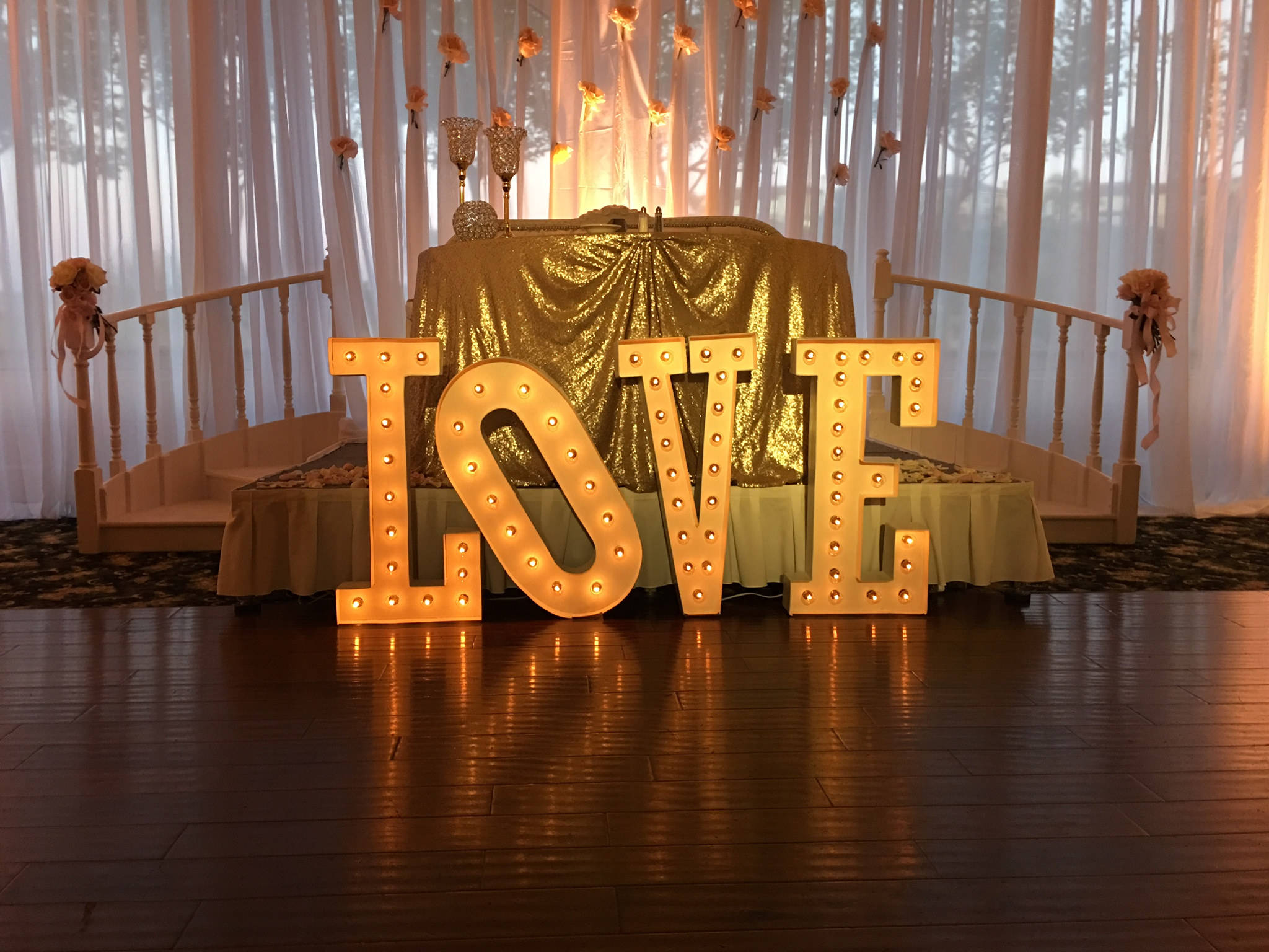 Westridge Golf Wedding La Habra Marquee Letters