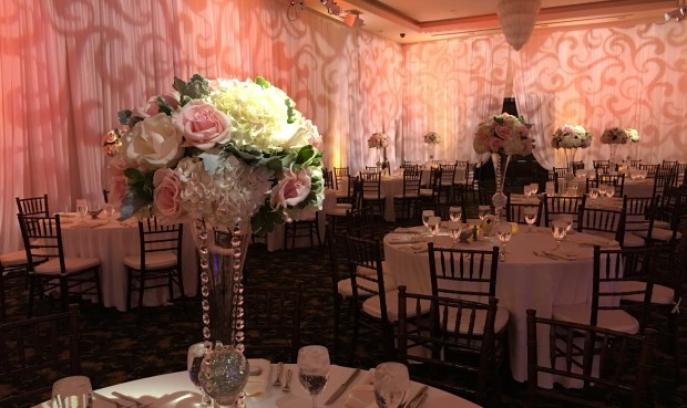 Westridge Golf Club Wedding La Habra Uplighting Pipe and Drape